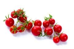 Tomates-cerises sur le fond blanc Images libres de droits