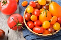 Tomates coloridos Fotografía de archivo