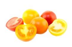 Tomates coloridos da videira Foto de Stock Royalty Free