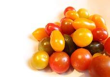 Tomates coloridos del bebé fotografía de archivo