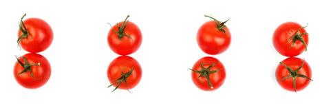 Tomates coloridos isolados em um fundo branco Tomates vermelhos suculentos e frescos Vegetais orgânicos Ingredientes para uma ket imagens de stock