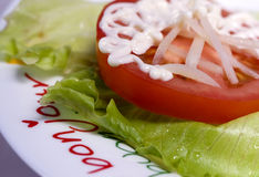 tomates con ajo foto de archivo libre de regalías