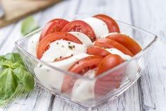 Tomates con la mozarela Foto de archivo