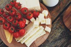 Tomates con queso Fotos de archivo libres de regalías