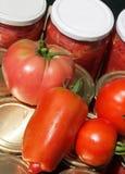 Tomates conservées Photo libre de droits