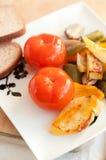 Tomates conservados en vinagre Imágenes de archivo libres de regalías