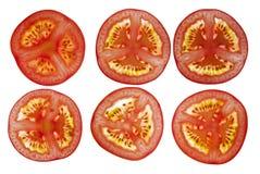 Tomates cortados Fotografia de Stock Royalty Free