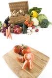 Tomates cortados Imagem de Stock Royalty Free