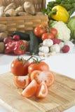 Tomates cortados Fotos de Stock Royalty Free