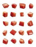 Tomates cortados en cuadritos foto de archivo libre de regalías