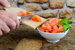 Tomates coupées Image libre de droits