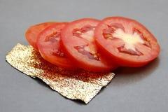 Tomates coupées en tranches Photographie stock libre de droits