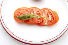 Tomates coupées en tranches fraîches Images stock