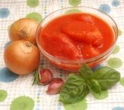 Tomates cozinhados imagem de stock