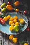 Tomates d'héritage pour la cuisson photo libre de droits