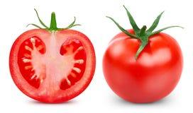 Tomates d'isolement sur le blanc photos libres de droits