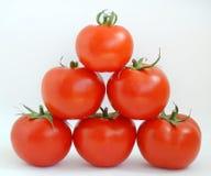 Tomates da pirâmide foto de stock