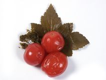 Tomates da salmoura Fotos de Stock