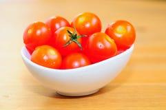 Tomates da xerez. Foto de Stock