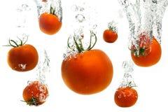 Tomates dans l'eau Photo libre de droits
