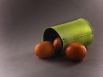 Tomates dans la poche de refroidissement Photos libres de droits