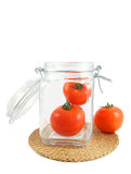 Tomates dans le choc Image stock