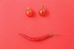 Tomates de cereja e chees frescos no brinde Imagens de Stock