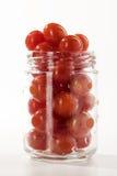 Tomates de cereja maduros fotografia de stock
