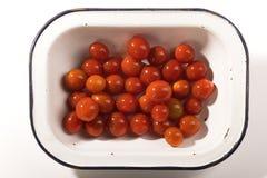 Tomates de cereja maduros fotografia de stock royalty free