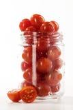 Tomates de cereja maduros imagens de stock