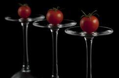Tomates de cereja vermelhos Imagens de Stock Royalty Free
