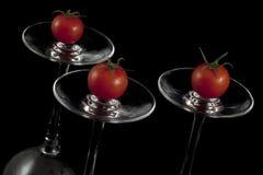 Tomates de cereja vermelhos Imagem de Stock Royalty Free