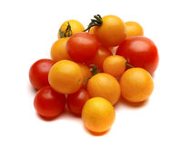 Tomates de cereja vermelhos e amarelos Foto de Stock