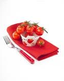 Tomates de cereza Imagen de archivo libre de regalías
