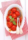Tomates de cereza cocidos Fotografía de archivo