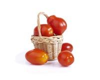 Tomates de cereza maduros Fotos de archivo libres de regalías