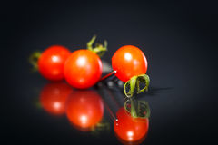 Tomates de cereza maduros Foto de archivo libre de regalías