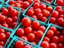 Tomates de cereza para la venta Imagen de archivo libre de regalías