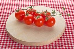 Tomates de cereza rojos imágenes de archivo libres de regalías