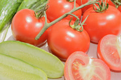 Tomates de concombres Photo libre de droits