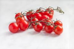 Tomates de la rama en un fondo Foto de archivo