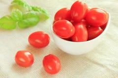 Tomates de la uva Fotografía de archivo libre de regalías