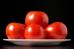 Tomates de plaque Images libres de droits
