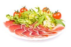 tomates de salade de quartier de porc de cerise Photographie stock