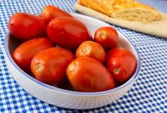 Tomates de San Marzano Image stock