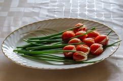 Tomates del tulipán Fotografía de archivo