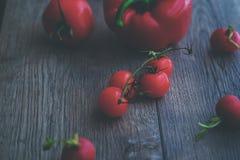 Tomates delichious da cereja vermelha Imagens de Stock