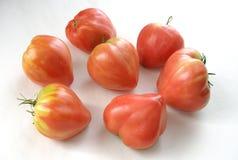 Tomates do coração Fotografia de Stock Royalty Free