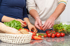 Tomates do corte Imagem de Stock Royalty Free