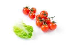 Tomates e alface de cereja Fotografia de Stock Royalty Free